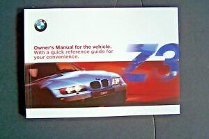bmw z3 owners manual ebay rh ebay com 2000 BMW Z3 Parts BMW Z3 Interior Parts
