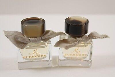 x2 Burberry MY BURBERRY EDT Eau De Toilette Perfume 5mL .17 oz Travel Size NWOB