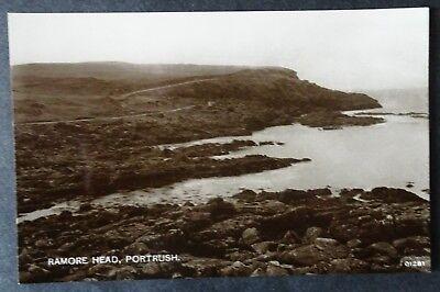 OLD REAL PHOTO POSTCARD - RAMORE HEAD, PORTRUSH, CO ANTRIM, NORTHERN IRELAND