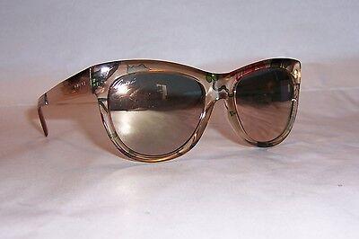 NEW GUCCI SUNGLASSES GG 3739/S 2FX-0J BEIGE FLORAL/GOLD MIRROR (Gucci Floral Sunglasses)