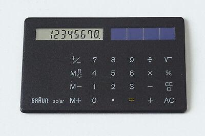 BRAUN Solar-Taschenrechner ST1, Type 4856, Scheckkartenformat, unbenutzt