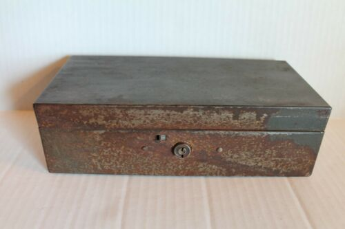 Vintage ASCA Moldmaster Metal Cash Box with Coin Tray Insert