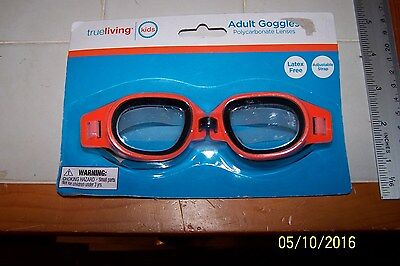 d312301167d Swim Goggle Adult Swimming Goggle 14   Up Orange PC Lens Adjustable Latex  Free