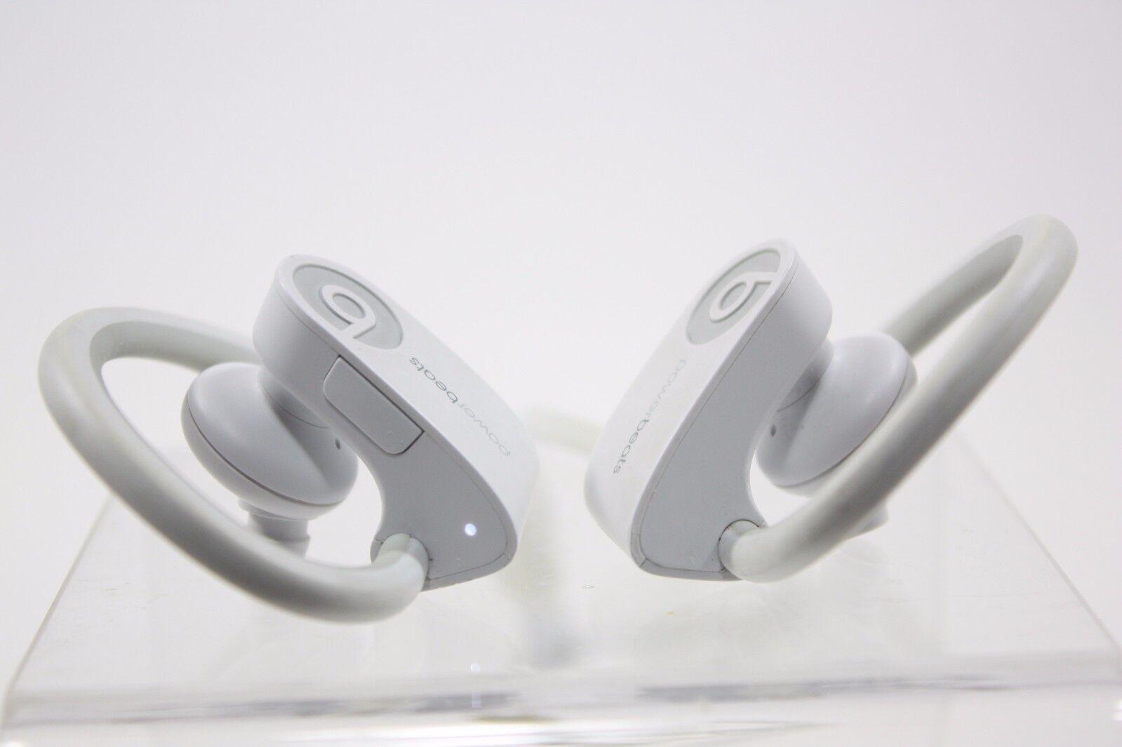 USED Beats by Dr. Dre Powerbeats 2 Wireless In-Ear Headphones - White (B0516)