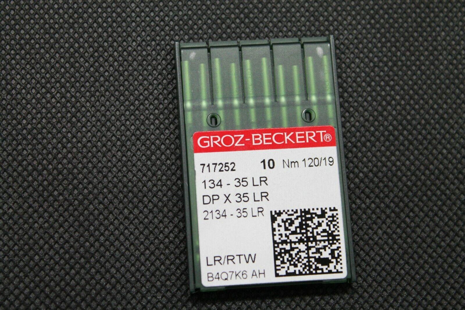 134-35 LR Groz Beckert DP X 35 LR NM 120//19 Rundkolben Leder Maschinennadel