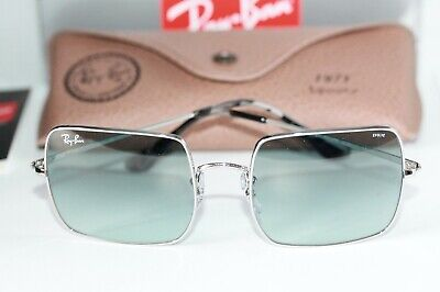 Ray Ban SQUARE Sunglasses RB1971 9149AD Silver W/ Light Blue PHOTOCHROMIC (Ray Ban Blue)