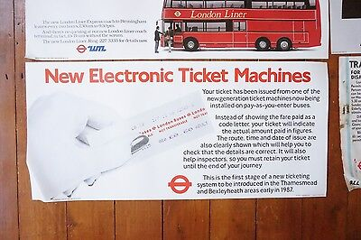 1980s Please Let the Bus Go First RM Bus Poster London Transport