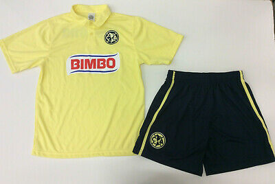 3bea9d880 Unbranded Kid's Soccer Club America Jersey Set Football, Yellow, YM