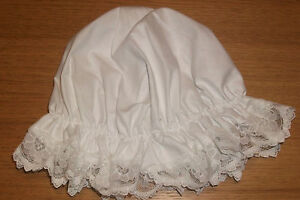 ADULTS-CHILDS-WHITE-MOP-HAT-MAID-FANCY-DRESS-WHITE-LACE-victorian-edwardian