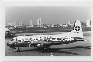 AIRLINER PHOTO HS-748 VARIG BRAZIL PP-VDV 4X6 INCHES B/W