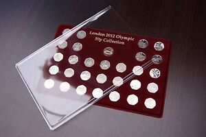 LONDON 2012 OLYMPIC 50P SPORT COINS COLLECTION TRAY