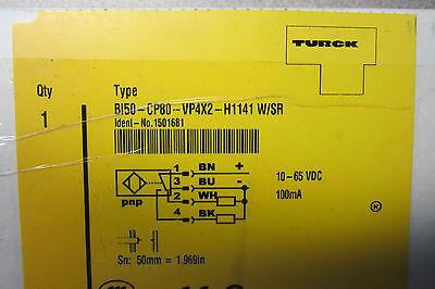 Turck Elektronik Bi50-cp80-vp4x2-h1141 Sensor Bi50cp80vp4x2h1141