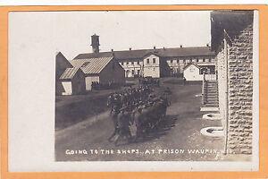 Real-Photo-Postcard-RPPC-Prisoners-Prison-Waupun-WI-Alfred-Stanley-Johnson
