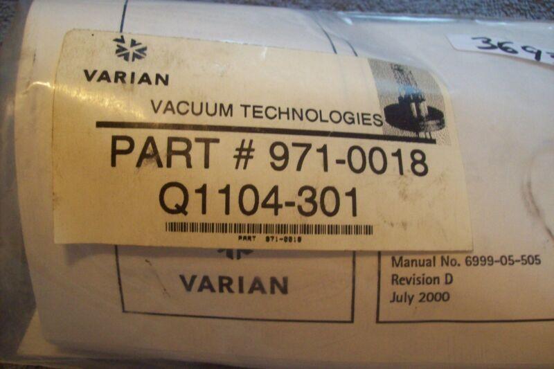 VARION VACUUM IONIZATION GAUGE UHV-24 PART # 971-0018 Q1104-301 NEW