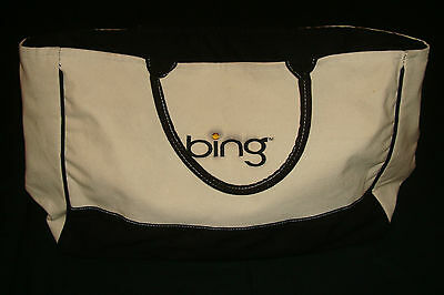 Microsoft Bing Search Engine Tote Bag Promotional Canvas Logo Mens Womens Tan