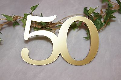 Tischdekoration Jubiläum goldene Hochzeit Geburtstag Jubiläumszahl 50 gold