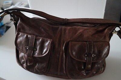 Damen Handtasche, Picard, echt Leder, braun, groß, Shopper Umhängetasche