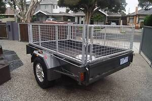 8x5 cage trailer, Registered,4WD wheels plus a spare Altona Hobsons Bay Area Preview