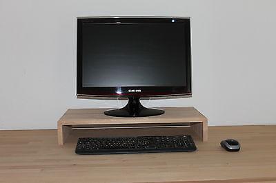 Monitorerhöhung Bildschirmerhöhung Podest TV Aufsatz Buche massiv 30x20x10cm