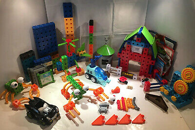 Lot of 249 TRIO FISHER PRICE BUILDING Pcs Barn Silly Creatures Helicopter Batman