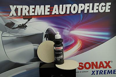 SONAX PROFILINE Glas Politur Set Glass Polish 1x250ml + 2x FilzPad Polierpad