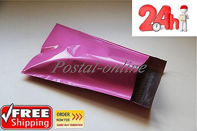 25 x PINK Plastic Mailing Bags 250 x 350 mm 10 x 14 10x14 250x350 postage postal