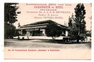 SUKABUMI, JAVA, INDONESIA, SELABATOE SANATORIUM ADV PC, PAVILION, c. 1902