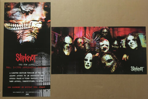 SLIPKNOT Rare 2004 DOUBLE SIDED PROMO POSTER FLAT for Vol CD 24x12 MINT USA