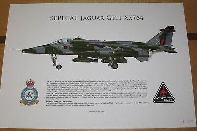 SEPECAT RAF Jaguar GR.1 XX764 Embriodered patch 226OCU Lossiemouth aircraft