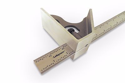 Lasquare Usa 12  Machinist Combination Square Saddle Square Stainless Las 12Ss