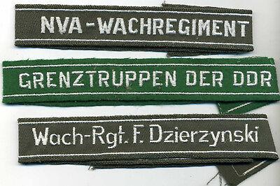 3 stk Ärmelband Felix Dzersinski Grenztruppen der DDR NVA Wachregiment Effekten