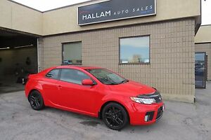 2013 Kia Forte Koup 2.4L SX Power Sunroof, Black Leather Inte...