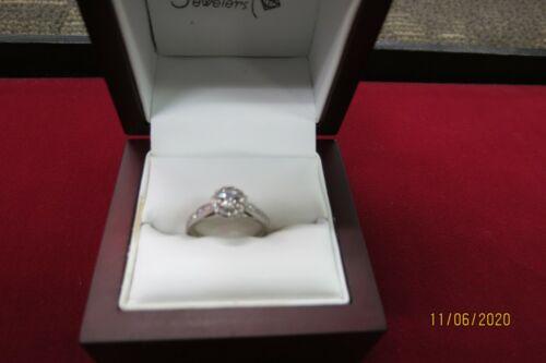 Ladies Platinum Royal Halo Pave .70ctw Diamond Engagement Ring James Allen 5.5
