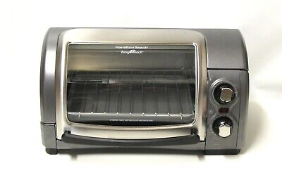 Hamilton Beach Easy Reach Roll Top Toaster Oven Gray 4 Slice Convection Broil