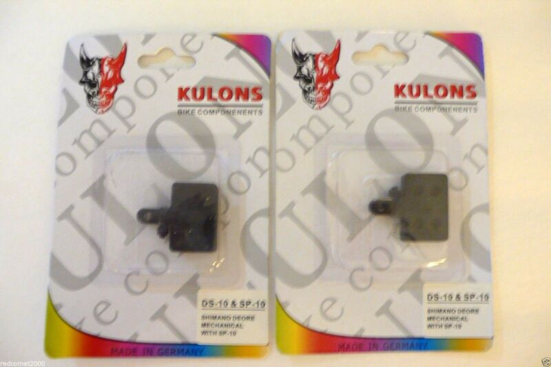 2 Pairs (4 pads) MTB Hybrid Bicycle Disc Brake Pads Shimano Deore DS-10 & SP-10