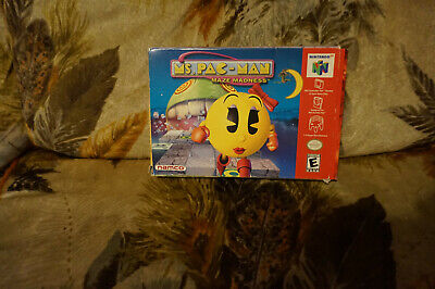 Ms Pac Man Maze Madness N64 Nintendo 64 with box and inserts -no manual