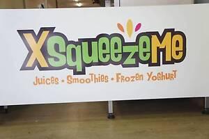 Juice bar / ice cream / frozen yoghurt shop signs FREE- XSquezeMe Singleton Singleton Area Preview