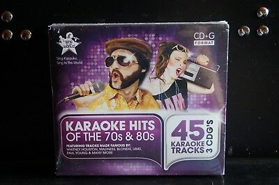 Sing to the World  - Hits of the 70s & 80s 3 CD-G Karaoke Box Set New Sealed