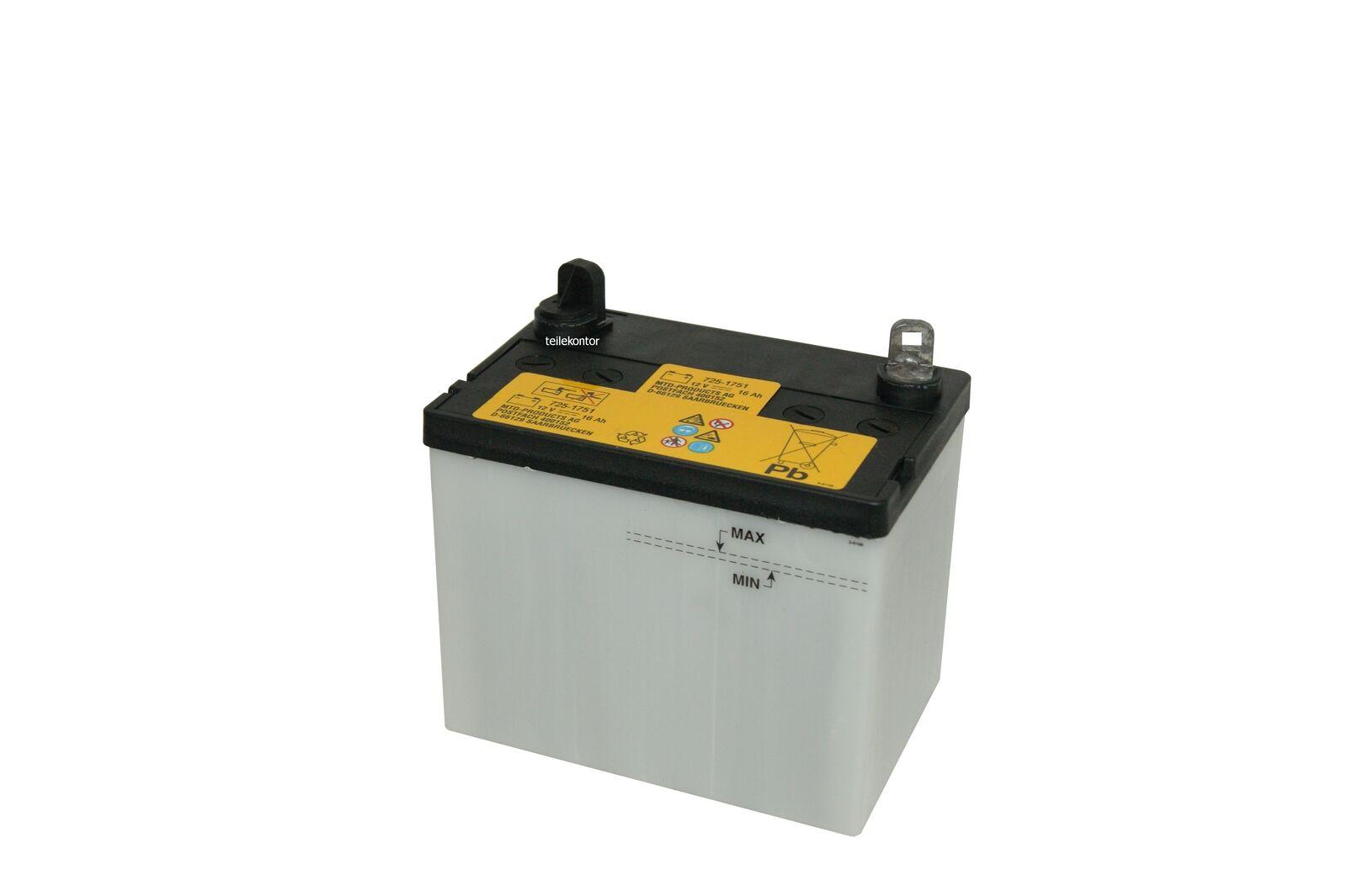 Original MTD Batterie für Rasentraktor/Aufsitzmäher 12 Volt 16 A/h Neu!