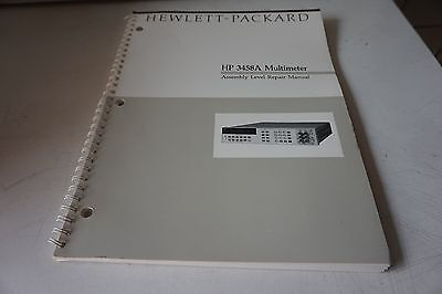 Agilent Hp 3458a Assembly Level Repair Manual 03458-90010