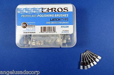 Dental Prophylaxis Polishing Brushes Brush Latch Type Box 144 Pcs Ehros