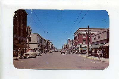 Kenosha WI Wis 1956 Sixth Avenue North street view, stores, cars, people, (Sixth Avenue Store)