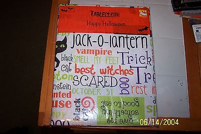 Halloween Treat Table (HALLOWEEN TableCloth TRICK OR TREAT Table Cloth (52