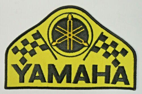 """large triangular YAMAHA 8"""" jacket back patch UNUSED"""