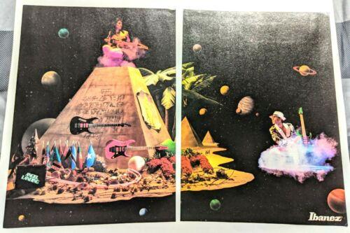 STEVE VAI / 1987 IBANEZ GUITARS MAGAZINE CENTERFOLD PRINT ADVERTISEMENT PINUP