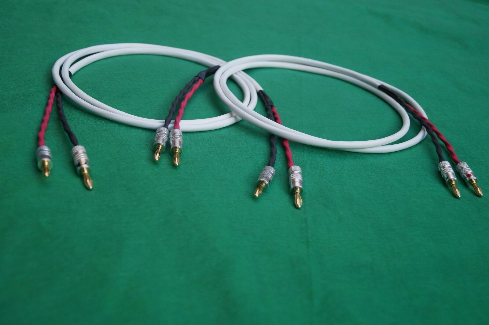BELDEN PURE COPPER Wire Speaker Cable 2/2 Gold Plated Banana Plugs ...