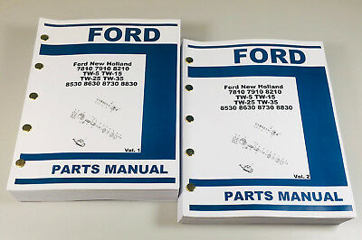 Ford Tw-5 Tw-15 Tw-25 Tw35 Tractor Parts Assembly Manual Catalog Exploded Views