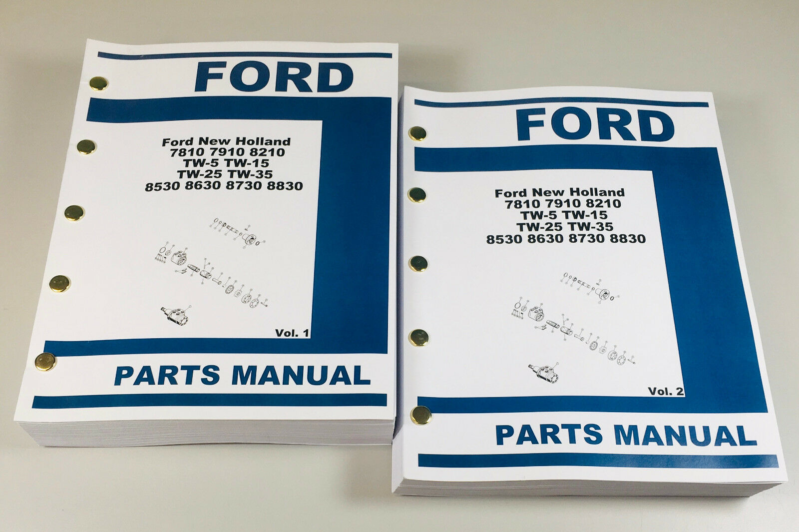 8530 8630 8730 8830. Complete Parts Manual