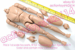 1-6-scale-Hot-12-Action-Figure-Caucasian-Narrow-Shoulder-Ver-Nude-Body-toys