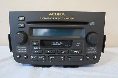 ✅ 01 02 03 04 Acura MDX Audio Radio Cassette Disc 6 CD Changer Player BOSE OEM